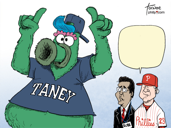 Philly Phanatic Taney Ruben amaro Ryne Sandberg