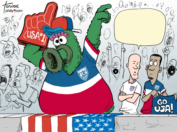 World Cup Philly Phanatic Team USA Tornoe cartoon