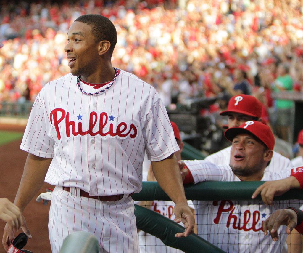 Centerfielder Ben Revere is batting .295 for the Phillies. (Steven M. Falk/Staff Photographer)
