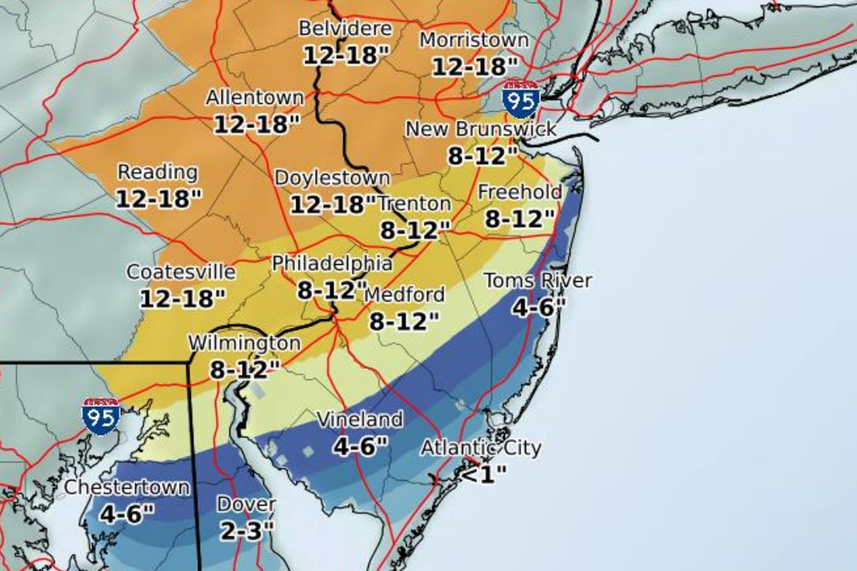 Philly Is Expected To Get A Lot More Snow Next Week - Us weather map snow forecast