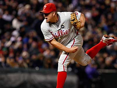 The Phillies have signed starter Joe Blanton to a three-year, $24M contract extension. (Ron Cortes / Staff Photographer)
