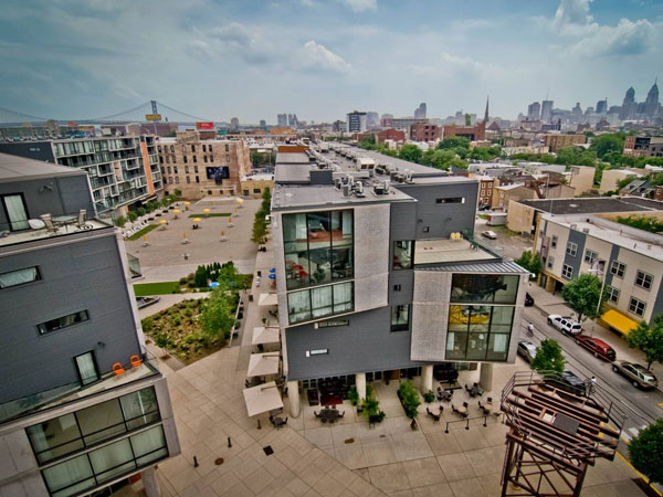 A view of The Piazza in Northern Liberties. (Photo courtesy of Facebook)