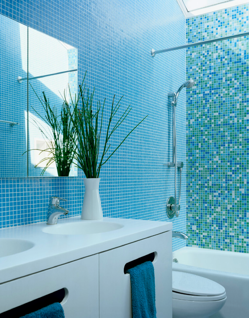 Blue Bathroom Tile Design Ideas
