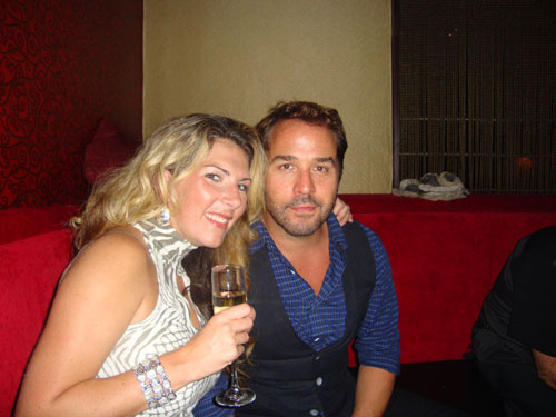 Piven poses with fan Krysten Bradley in VIP area of 32 Degrees Friday night.
