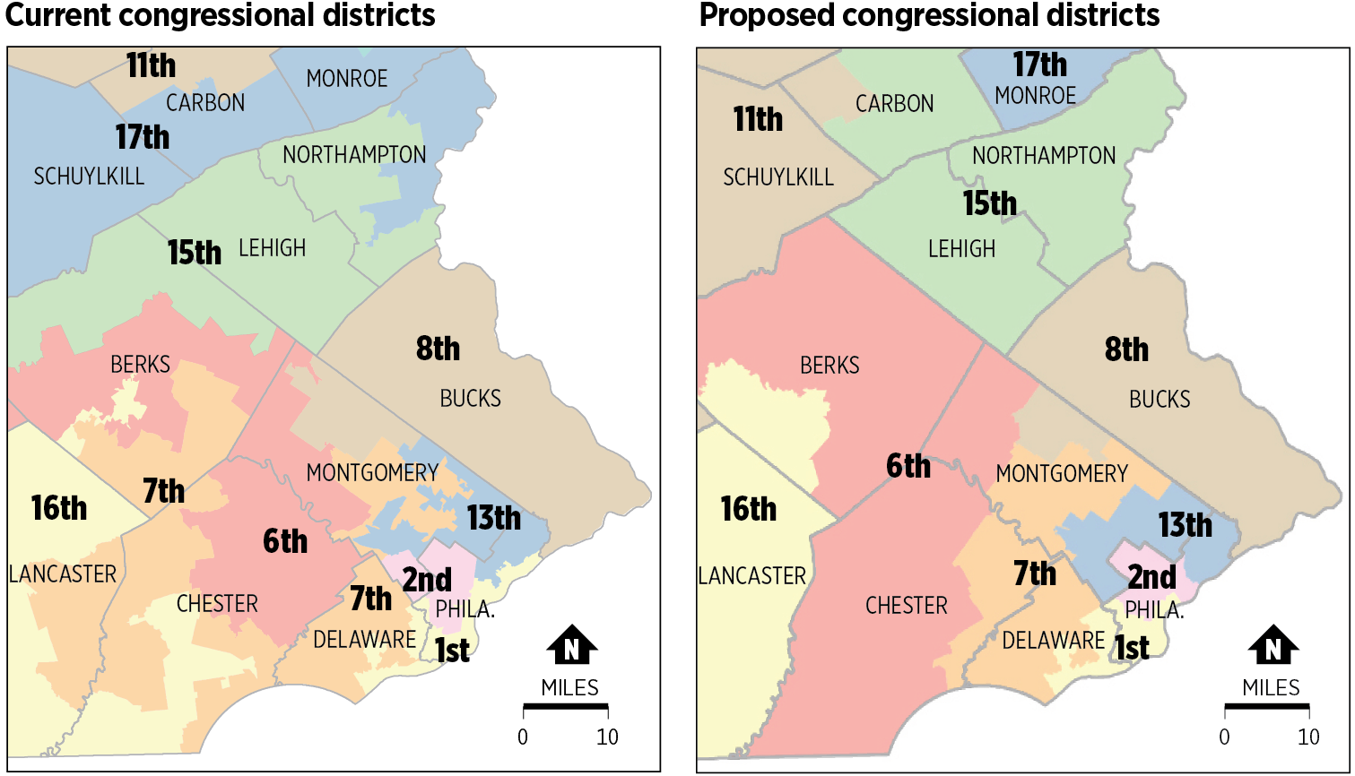 wolf has until thursday to approve or reject the plan here are the current districts in the philadelphia area and how they would look under the new