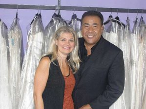 "Salon owner Renee Vollmar with ""What Would You Do?"" host John Quinones."