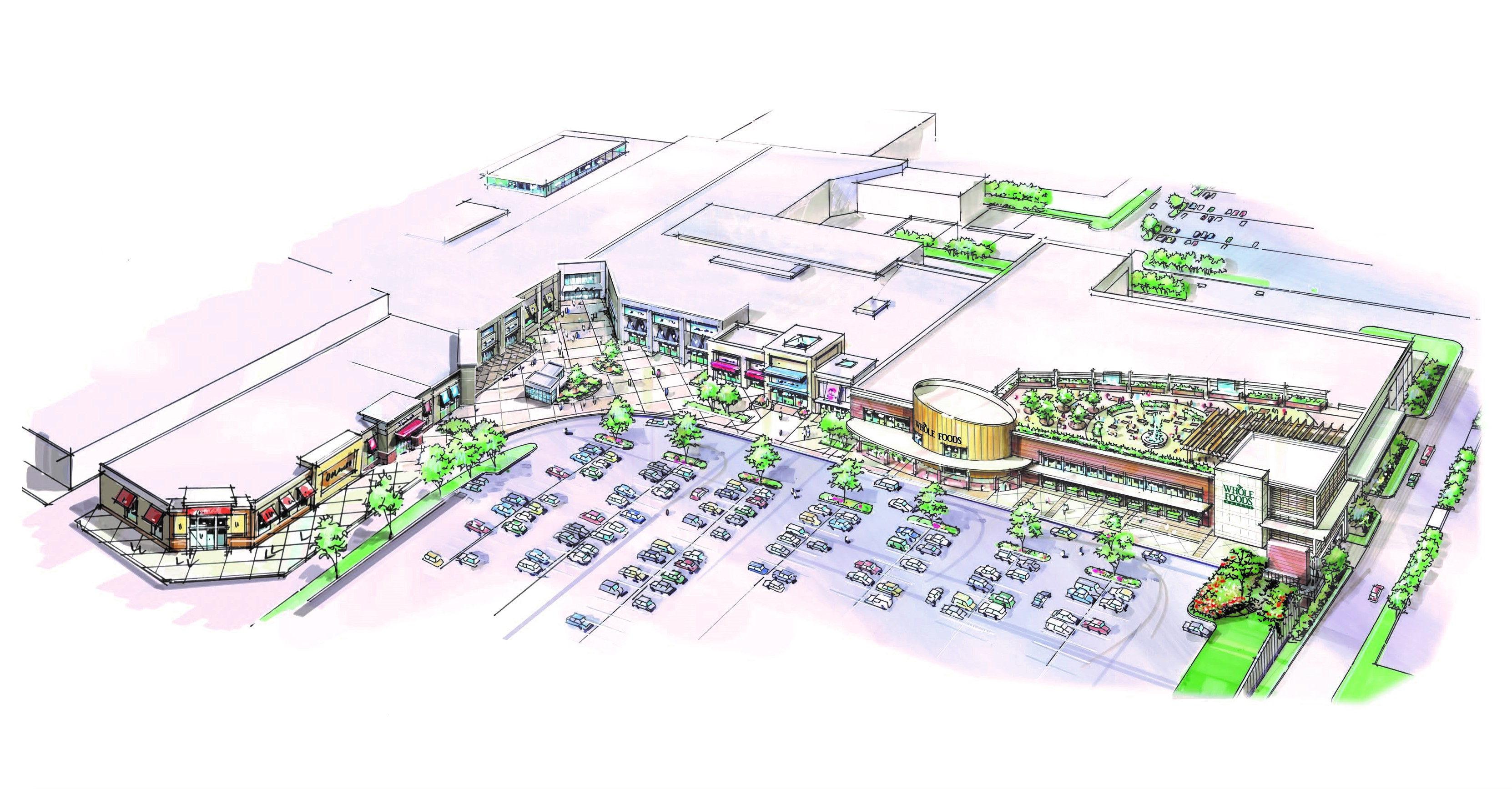 A conceptual rendering of what PREIT wants to do with the Macy´s space at Plymouth Meeting Mall.