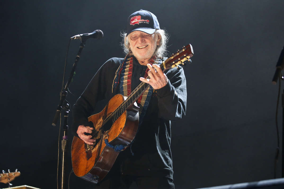 Willie Nelson performs during Farm Aid 30 at the FirstMerit Bank Pavilion on Northerly Island Saturday, Sept. 19, 2015, in Chicago. (Armando L. Sanchez/Chicago Tribune/TNS)