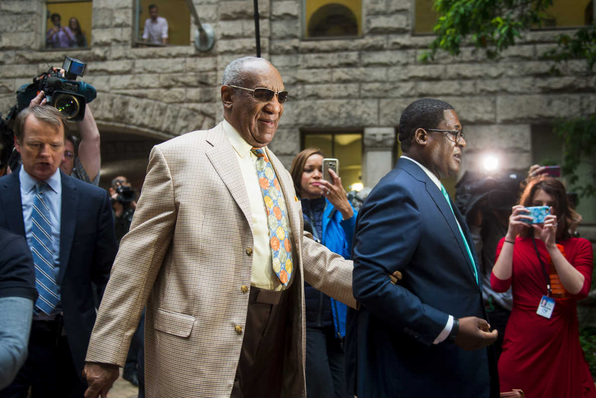 Bill Cosby walks into the Allegheny County Courthouse in downtown Pittsburgh for the first day of jury selection on Monday, May 22, 2017.