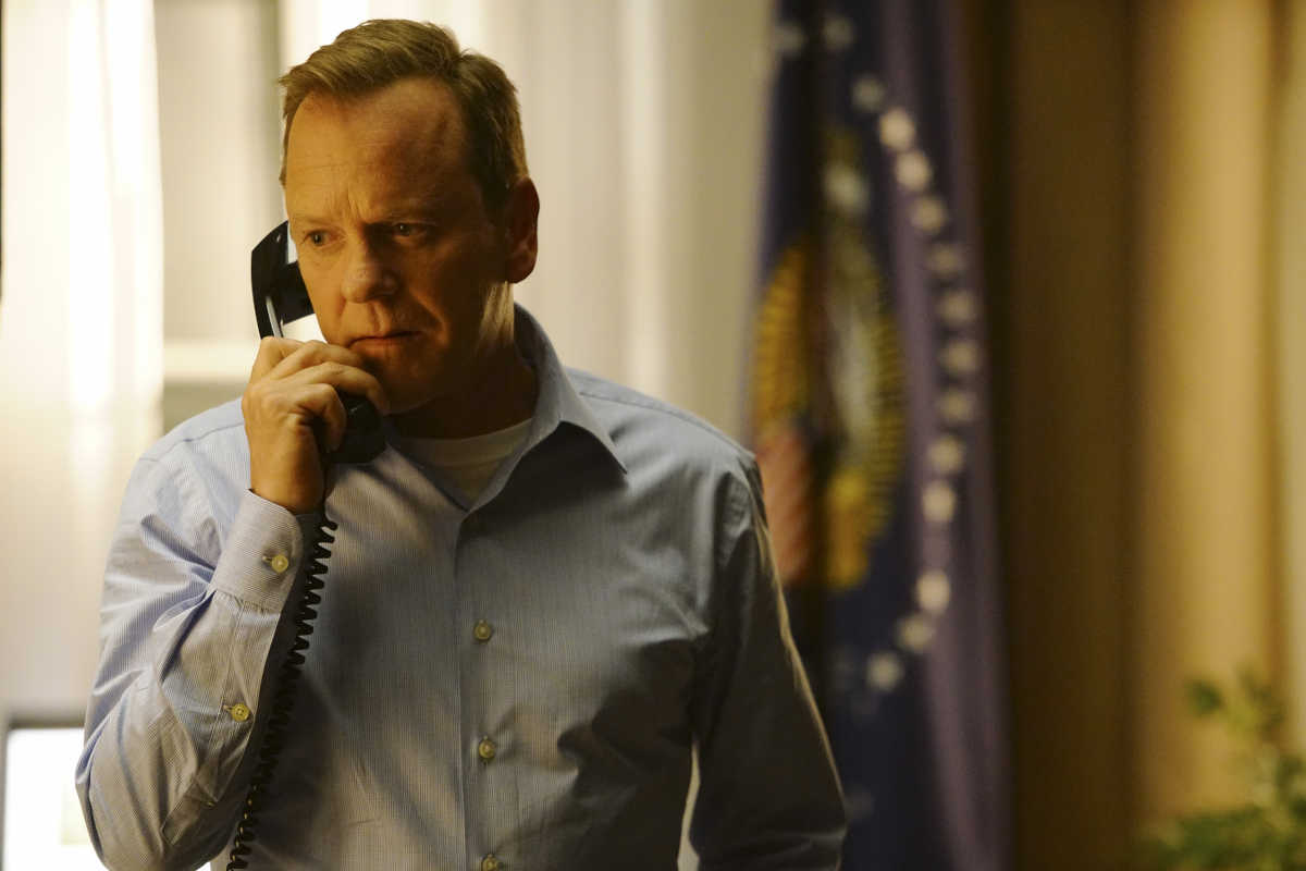 "DESIGNATED SURVIVOR - ""Pilot"" - Kiefer Sutherland stars as Tom Kirkman, a lower-level cabinet member who is suddenly appointed President of the United States after a catastrophic attack on the U.S. Capitol during the State of the Union, on the highly anticipated ABC series ""Designated Survivor,"" airing WEDNESDAY, SEPTEMBER 21 (10:00-11:00 p.m. EDT)."