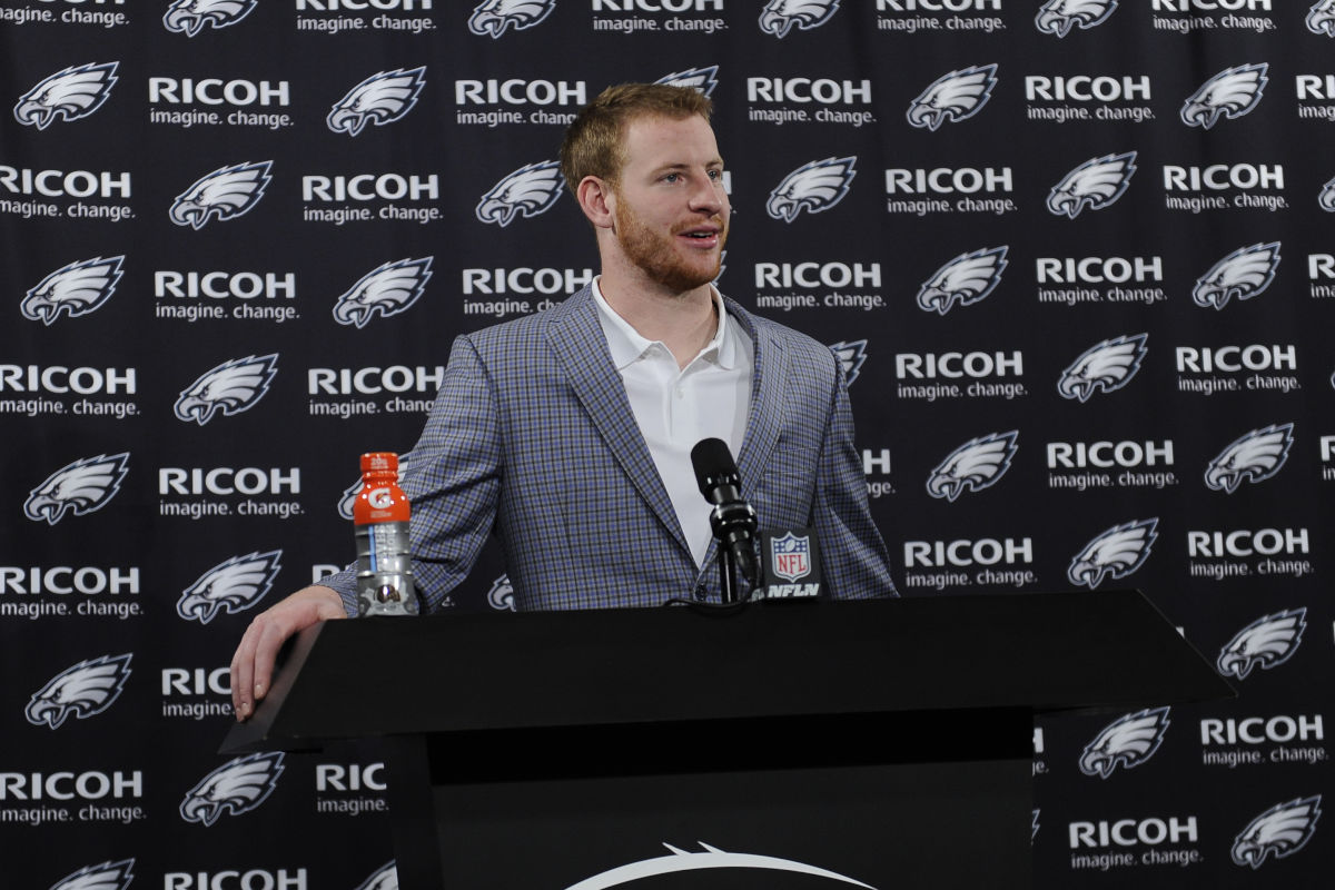 Eagles quarterback Carson Wentz.