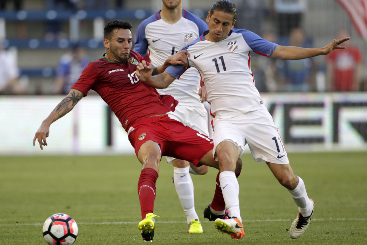 Philadelphia Union midfielder Alejandro Bedoya is on the United States men´s national soccer team´s roster for upcoming World Cup qualifiers against Trinidad & Tobago and Mexico.