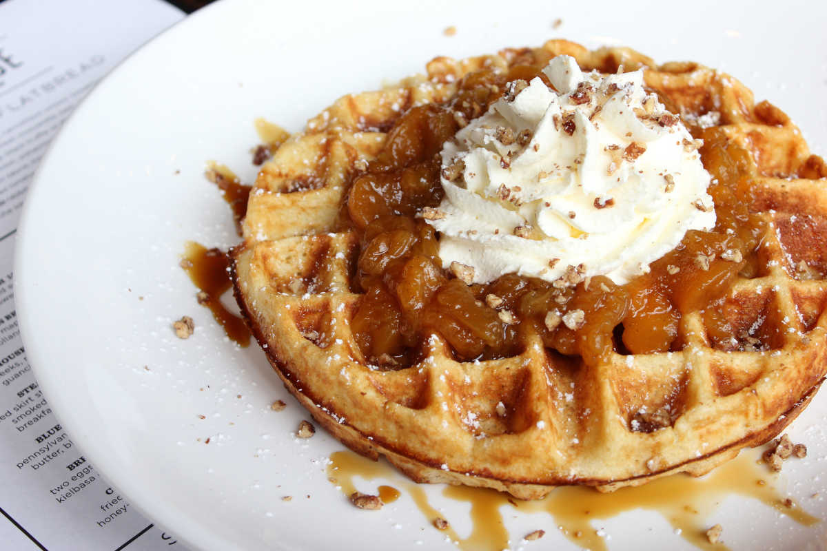 There's a Waffle Day at the American Swedish Museum, that could be just as delicious as this version from City Taphouse