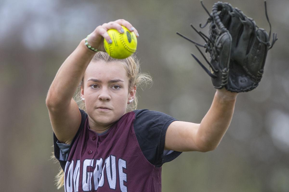 Rachel Butler warms up before practice.