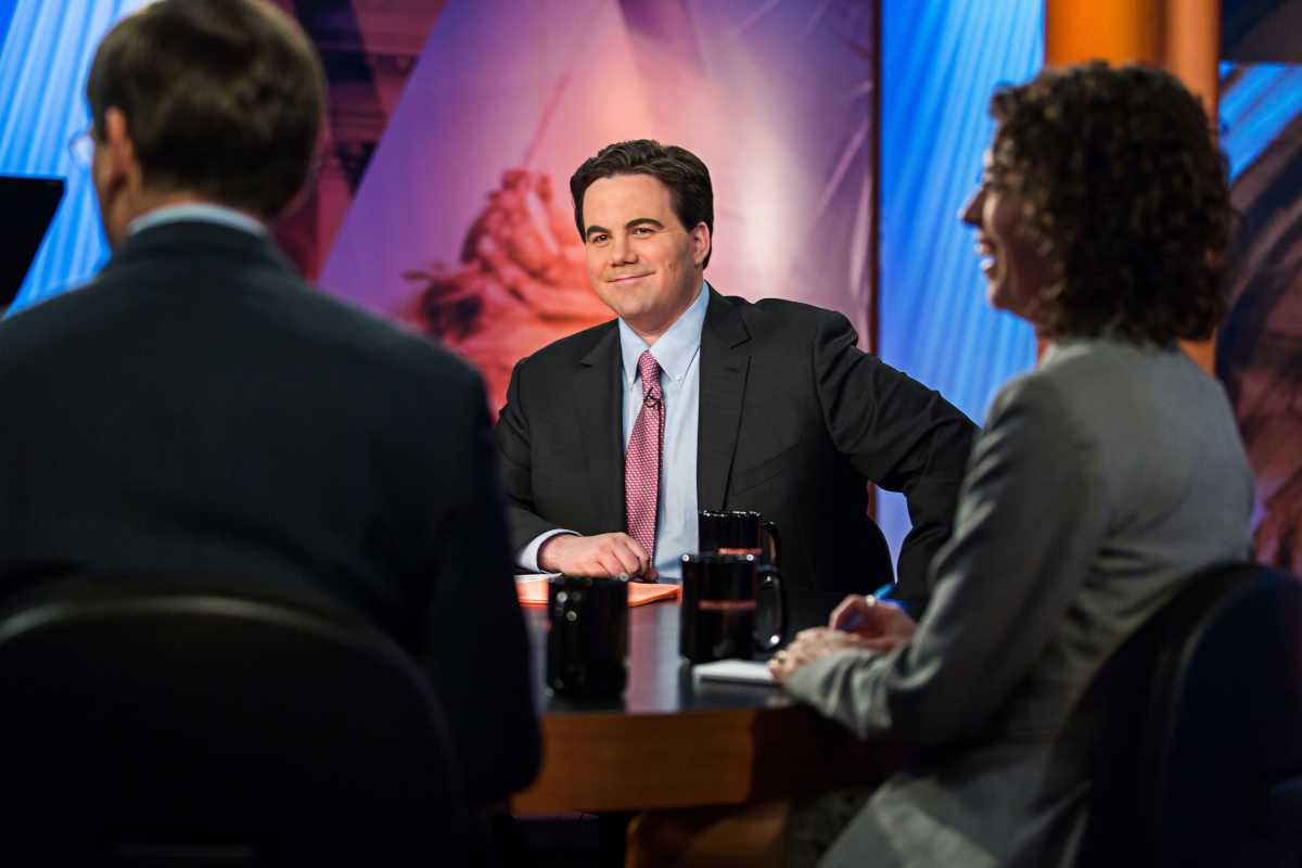 "Washington Post reporter Robert Costa (center) now moderates PBS' ""Washington Week"""