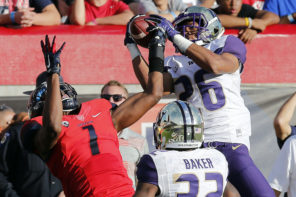 The Eagles selected University of Washington defensive back Sidney Jones (26) with the 11th pick of the second round of the 2017 NFL Draft, No. 43 overall.
