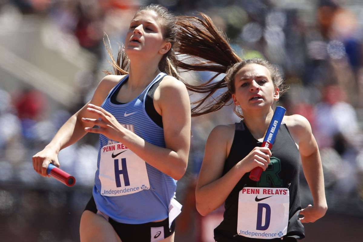 North Penn set a school record as it took fourth place in the high school girls 4x800-meter Championship of America race at the Penn Relays.