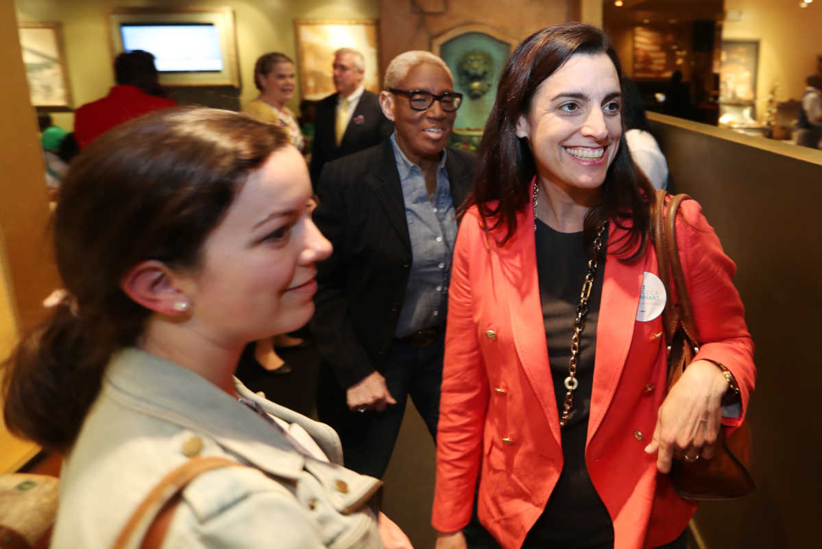 Rebecca Rhynhart attends the traditional Election Day lunch at Relish in West Oak Lane. She won the Democratic race for city controller.<br />