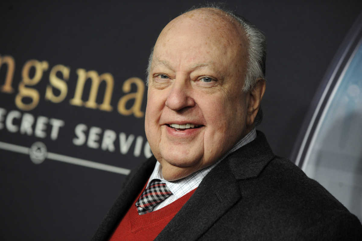 "In this file photo, Roger Ailes is pictured at teh premiere for ""Kingsman: The Secret Service"" on Feb. 9, 2015 in New York City. Ailes died Thursday at age 77"