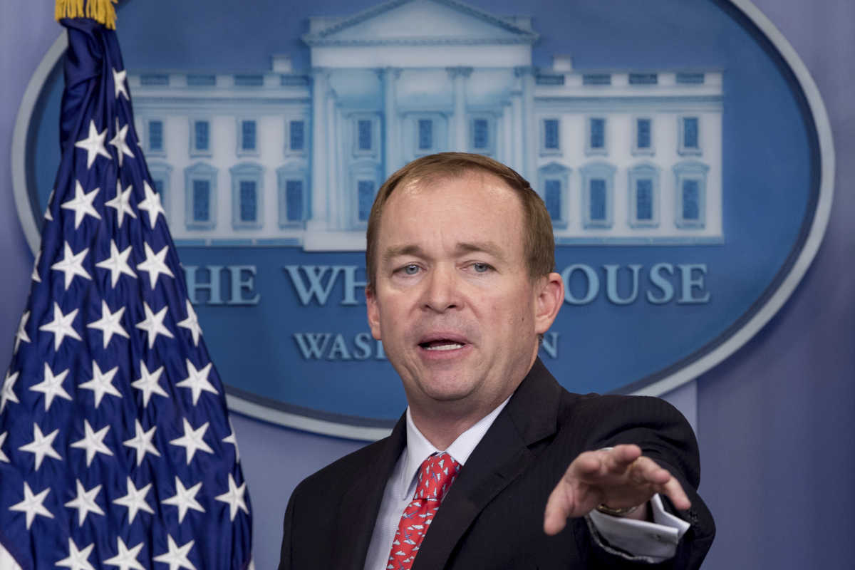 """We need people to go to work,"" White House Budget Director Mick Mulvaney told reporters at a briefing Monday. ""If you are on food stamps, we need you to go to work. If you are on disability and you should not be, we need you to go back to work."""
