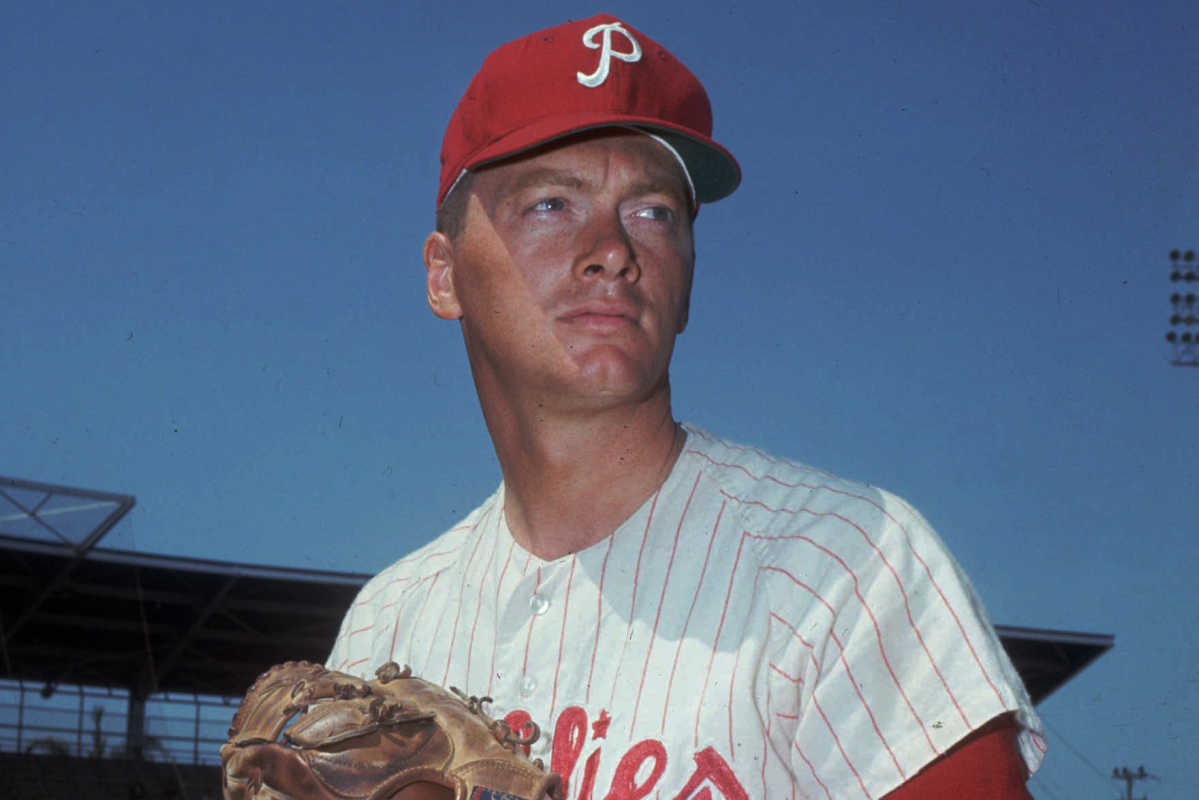 Jim Bunning during his playing days as a member of the Philadelphia Phillies.