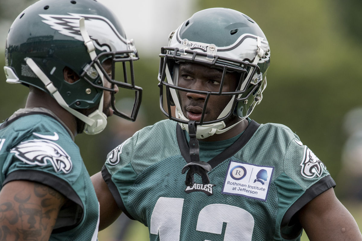 Eagles wide receiver Nelson Agholor (right) has stepped up his game this spring.