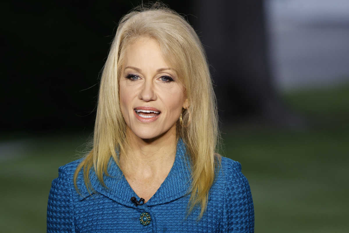 Kellyanne Conway is pointing a finger at the media after ...
