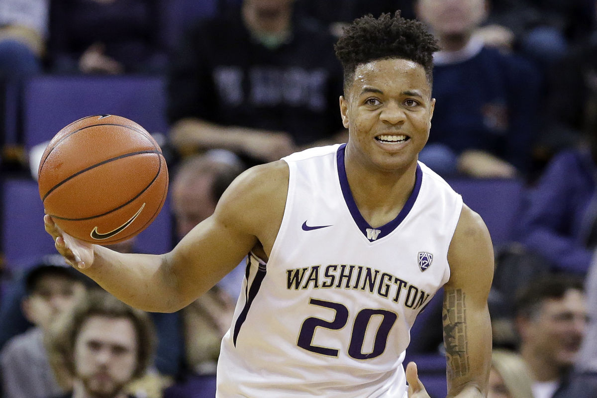 Markelle Fultz (20) had a terrific season for the Washington Huskies in 2016-17. They didn't, going 9-22.