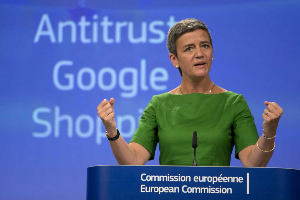 """Google has abused its market dominance in its search engine by promoting its own shopping comparison service in its search results, and demoting its competitors,"" EU competition chief Margrethe Vestager told reporters in Brussels."
