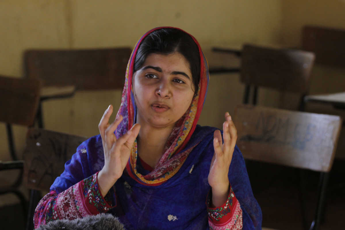 Malala Yousafzai, winner of the Nobel Prize and Liberty Medal, is a global advocate for girls' rights to education.