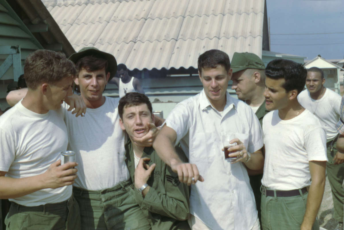 Breakfast Club: U.S. Air Force Sgt. Bob Connor, second from left, with his fellow U.S. Air Force Security Forces comrades at Bien Hoa Air Force Base in Vietnam in 1967. Photo courtesy of Bob Connor .