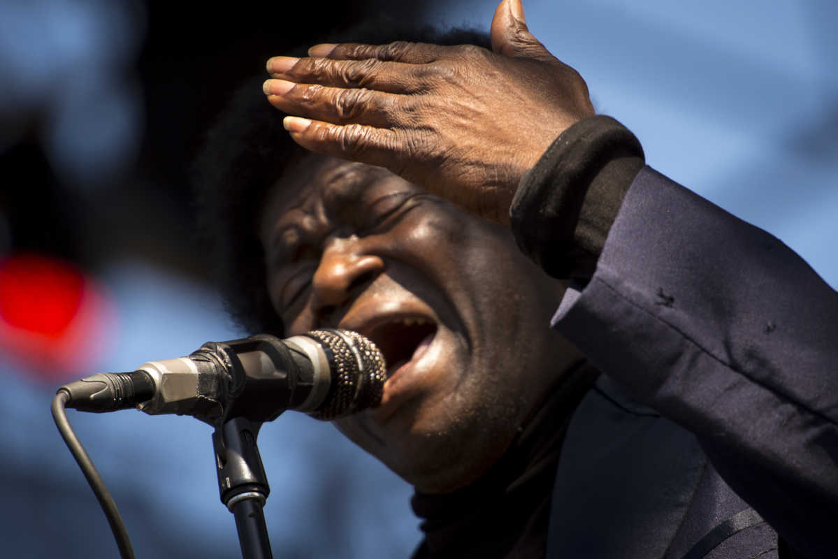 Charles Bradley performs at the Eaux Claires music festival in Eau Claire, Wis., in 2015.