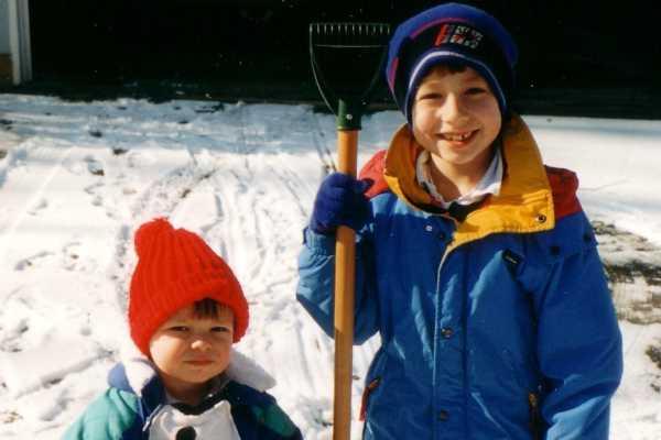 Ben (left) and Peter Kashatus in 2003.