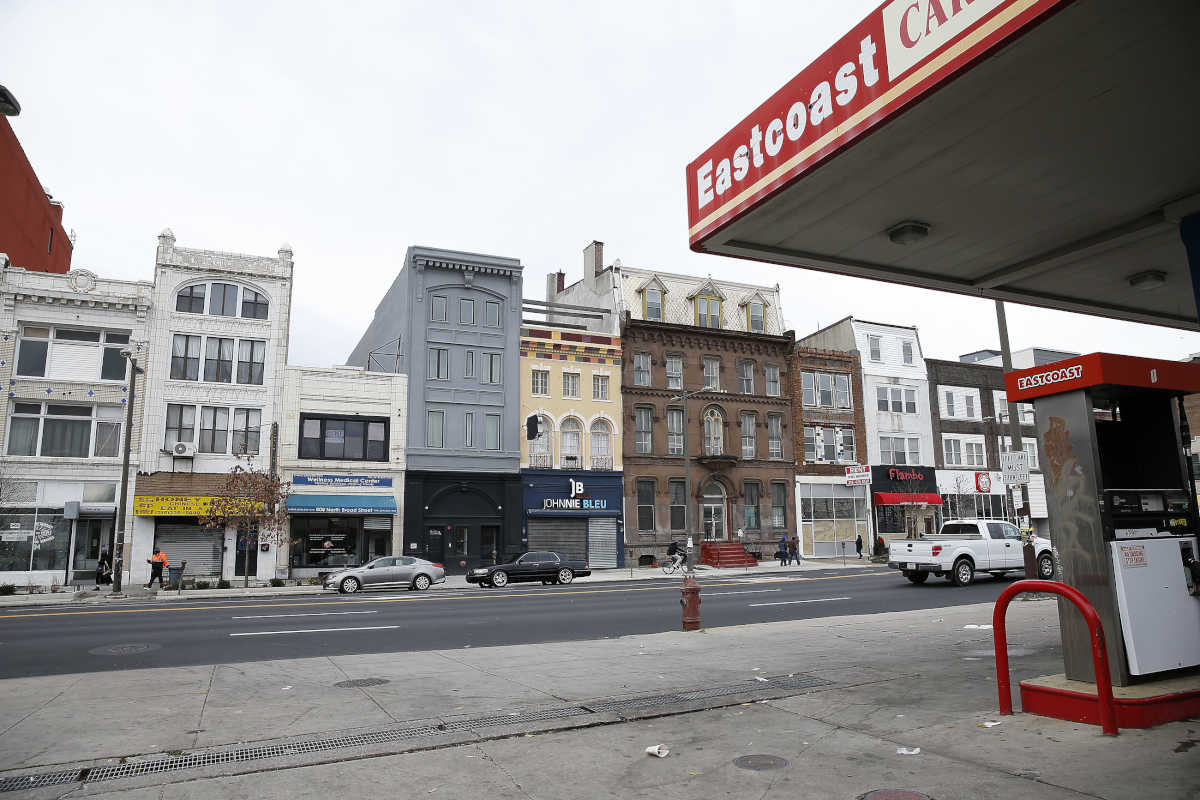 A view of the 800 block of North Broad Street in Philadelphia, a likely target for development.
