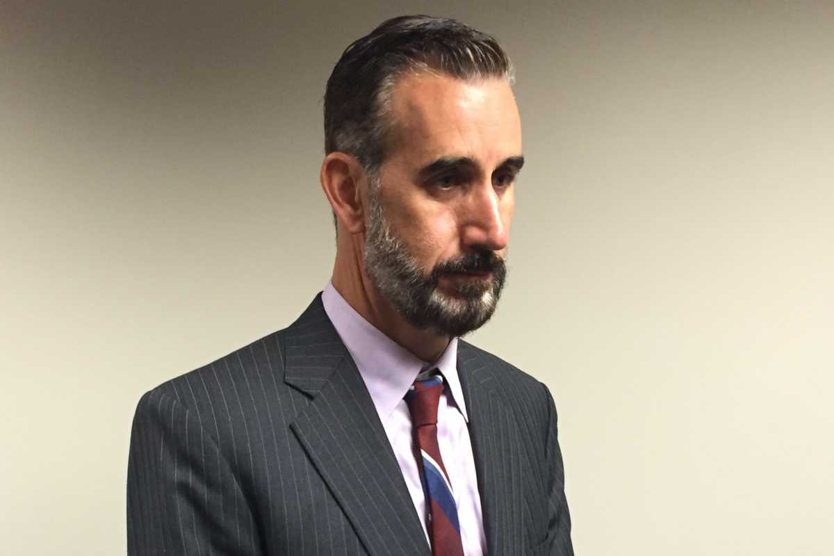 Dr. Thomas C. Barone, a family physician, practiced in Center City until the State Board of Osteopathic Medicine suspended his license after four current and former patients died of opioid overdoses. Photo taken following his testimony at a reinstatement hearing in Harrisburg on Sept. 16, 2016.