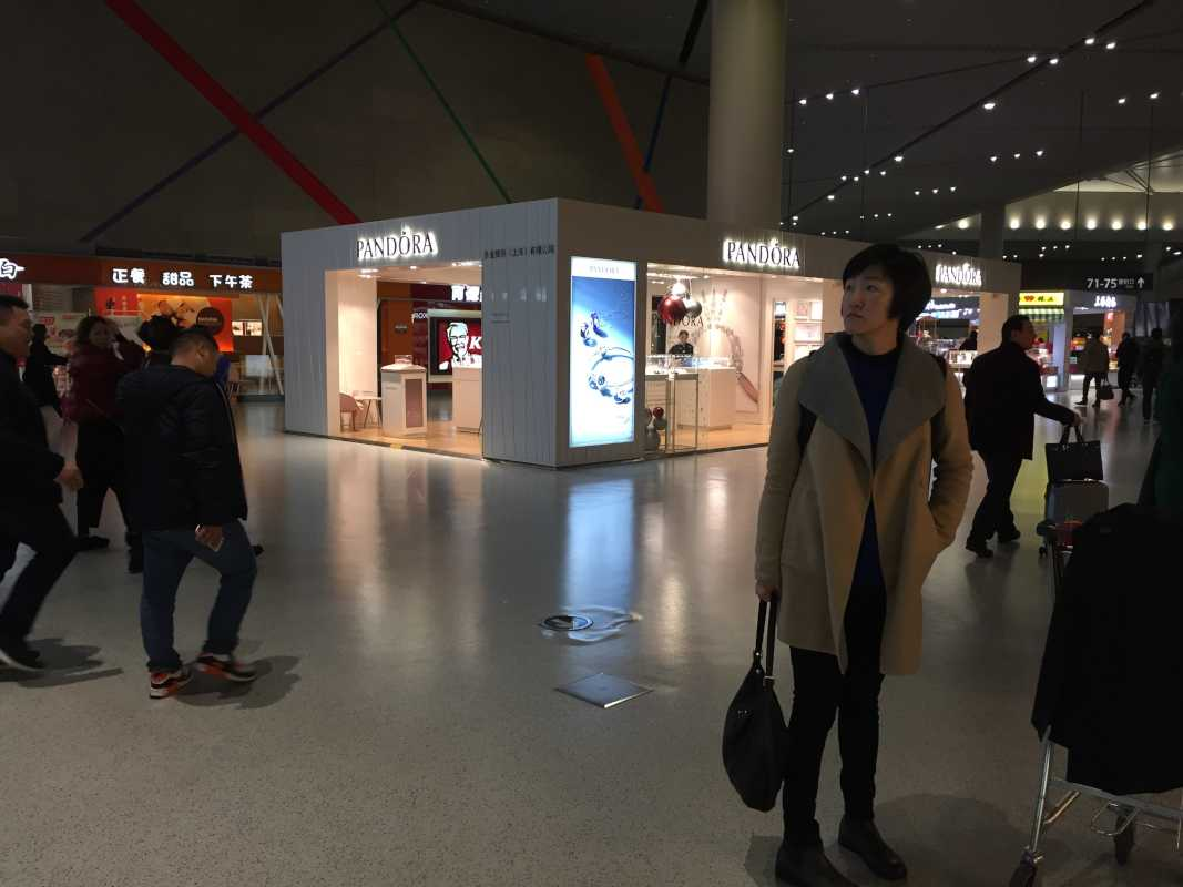 The clean and modern Shanghai Hongqiao airport