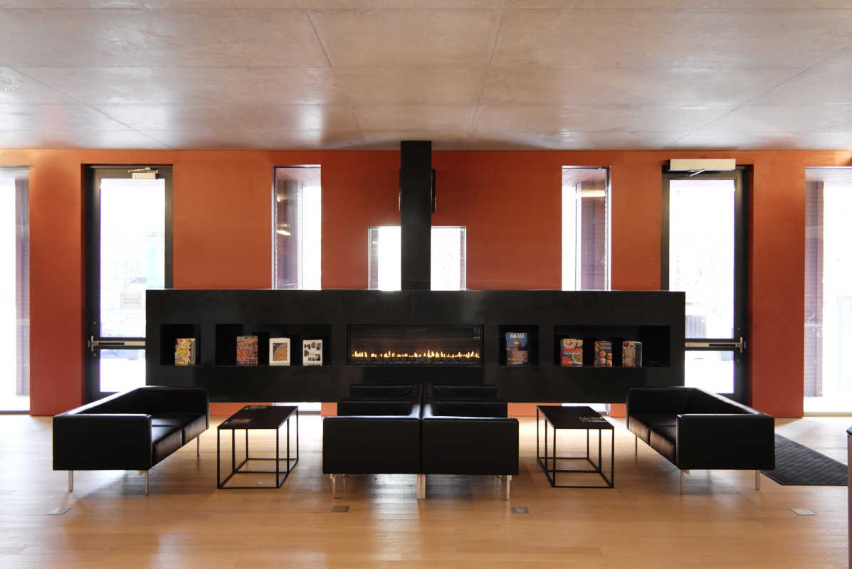 Inside Perelman Center for Jewish Life  at Drexel University.