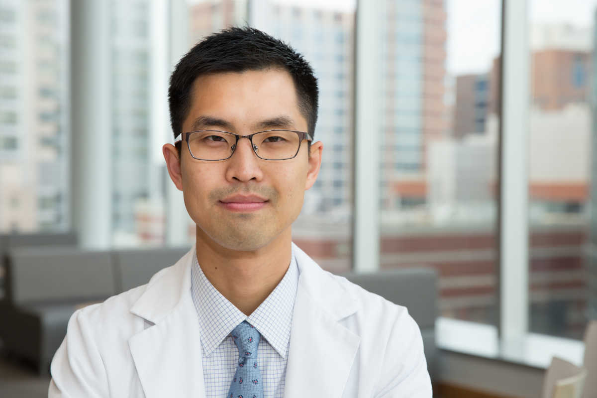 Jason Han, a fourth-year medical student, at the Perelman Center for Advanced Medicine.