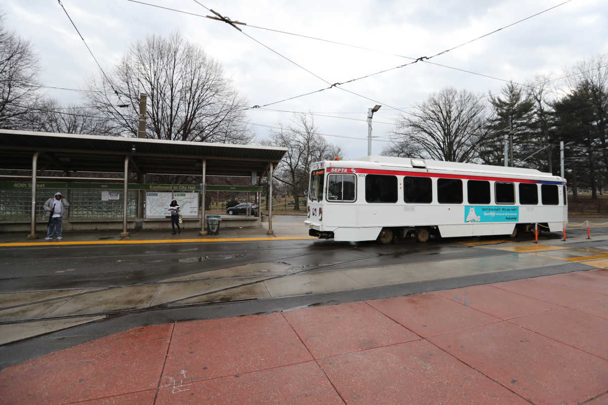 Trolley turns around at 40th and Baltimore.