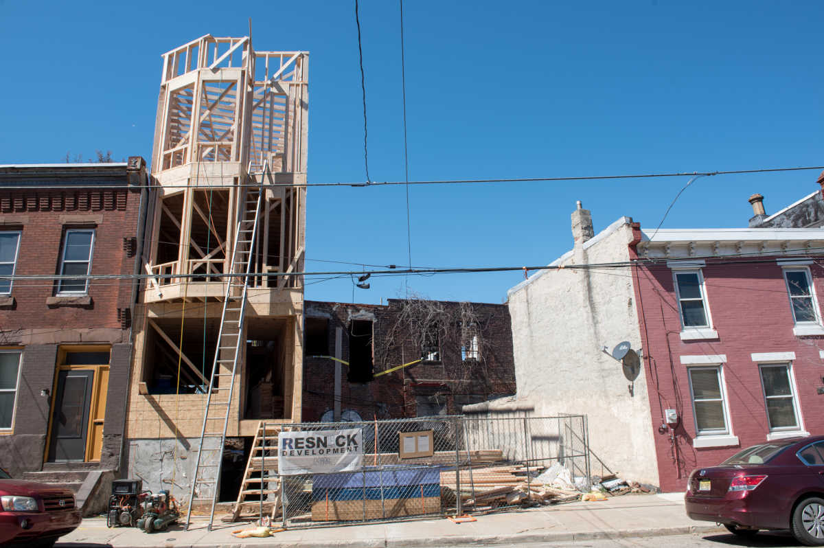 A 3-story property is being built on 1324 N. 27th Street in Brewerytown.