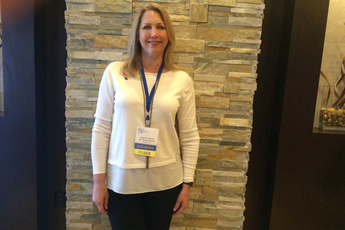 Janet Church of Sonoma, Cal., is on the board of the Sjogren's Syndrome Foundation.  She was diagnosed with the disease 11 years ago.