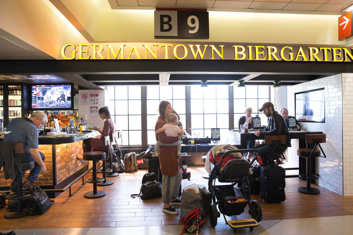 Germantown Biergarten is one of the new spots for food and libation. More will be opening over the next year at Philadelphia International Airport.<br />
