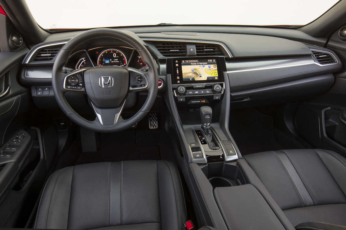 The 2017 Honda Civic Hatchback Sport offers plenty of cargo space, and a more comfortable Driver's Seat than the sedan version.