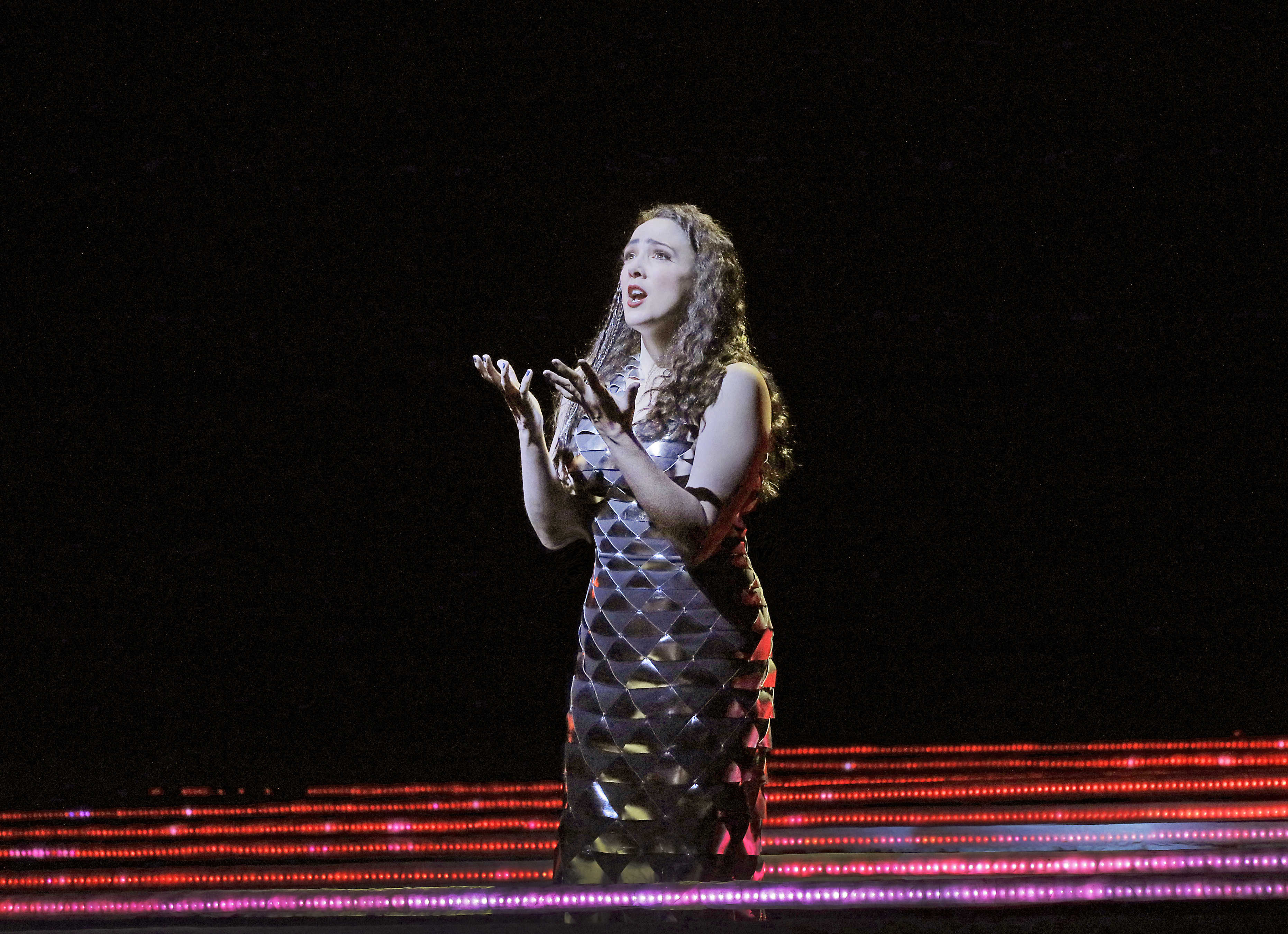 """Susanna Phillips as Clemence in Kaija Saariaho's """"L'Amour de Loin,"""" in New York. It is only the second staged work by a woman composer in the company's history, and the first since 1903."""