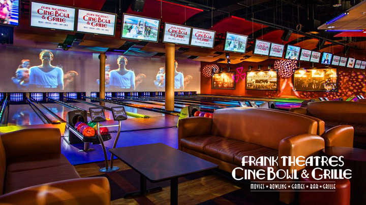 The interior of the 68,000 square foot Frank Theatres Cinebowl & Grille at the new Promenade at Granite Run Mall.​