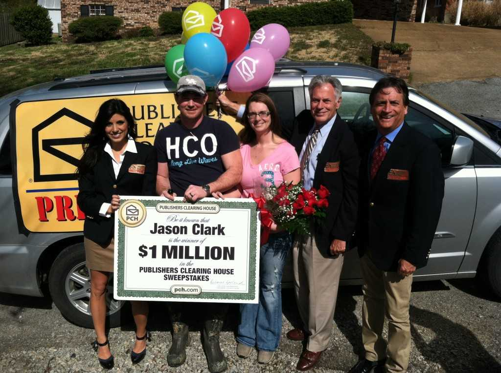 Jason Clark has 1 million reasons to be happy, courtesy of the PCH Prize Patrol