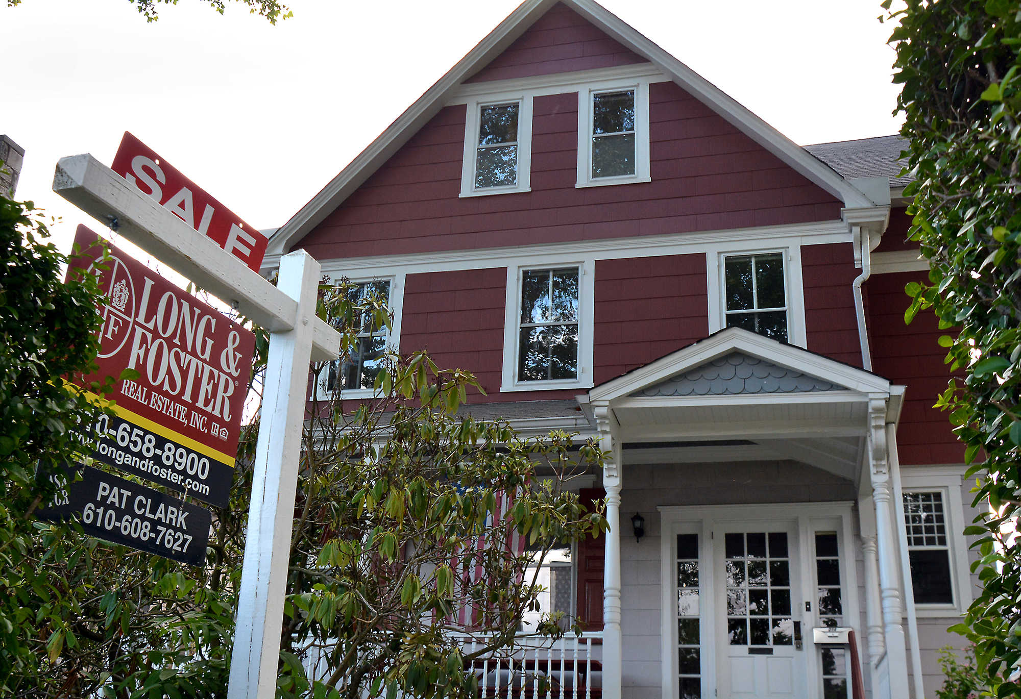 For sale in Narberth. The borough is the area's big gainer, with the median price up 81 percent from 2007, but overall here, the median is down 11 percent.
