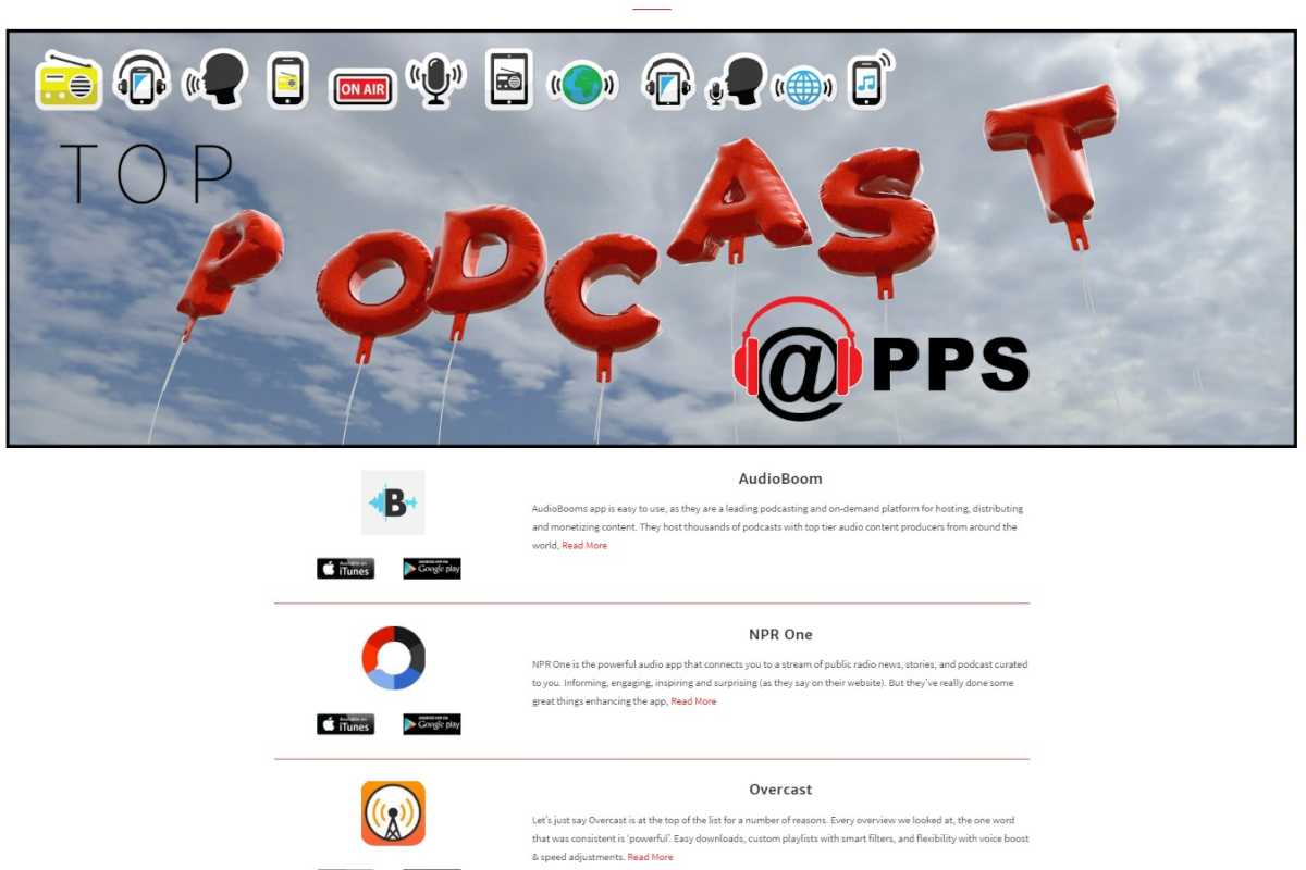 Besides direct links to choice podcast episodes, Philly based TopPodCast.com offers links to and recommendations for dozens of other podcast aggregators.