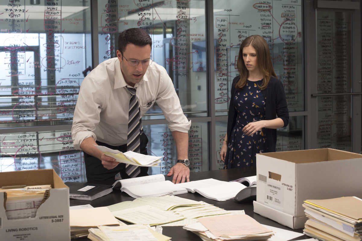 "In this image released by Warner Bros. Pictures, Ben Affleck, left, and Anna Kendrick appear in a scene from ""The Accountant."" (Chuck Zlotnick/Warner Bros. Pictures via AP)"