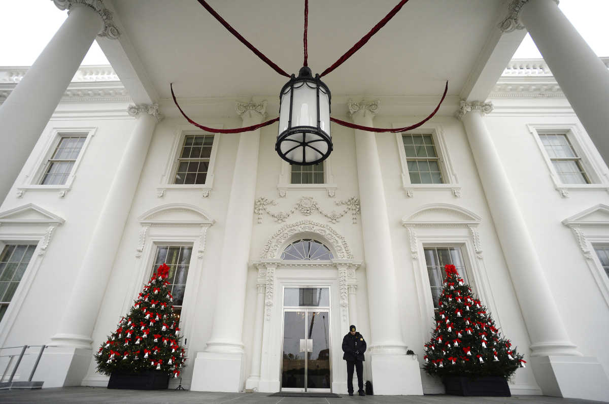 Holiday decorations at the white house are displayed during a press - Holiday Decorations At The White House Are Displayed During A Press 36